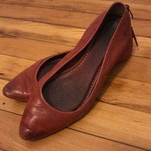 Frye Regina Leather Flats